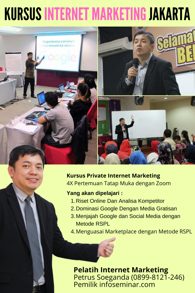 Privat Internet Marketing Petrus Soeganda (Pembicara Internet Marketing)